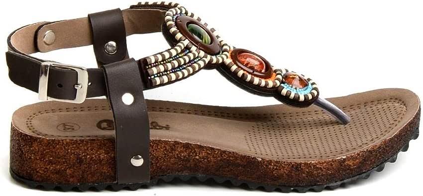 BAMBI Black Comfort Sandal For Women