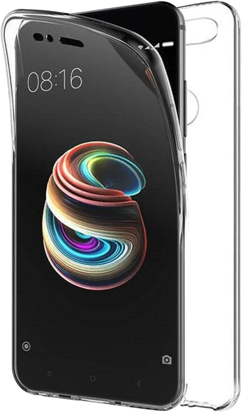 TBOC Funda para Xiaomi Mi A1 - Xiaomi Mi 5X [5.5 Pulgadas] - Carcasa [Transparente] Completa [Silicona TPU] Doble Cara [360 Grados] Protección Integral Total Delantera Trasera Lateral Móvil Resistente