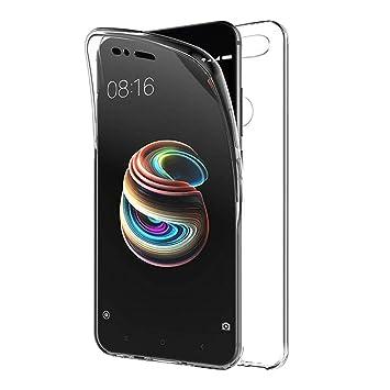 TBOC Funda para Xiaomi Mi A1 - Xiaomi Mi 5X [5.5 Pulgadas] - Carcasa [Transparente] Completa [Silicona TPU] Doble Cara [360 Grados] Protección ...