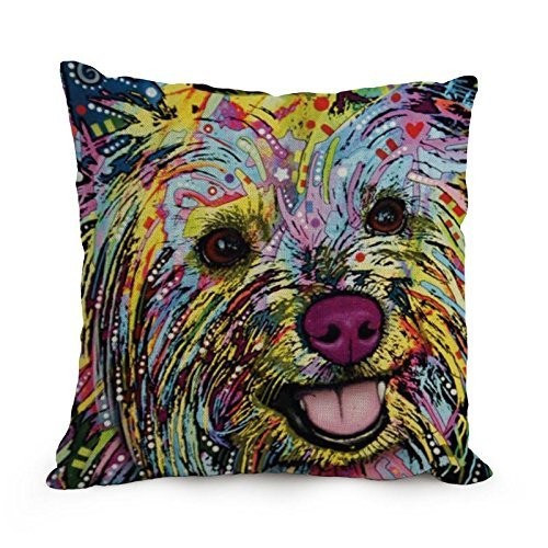 beautifulseason throw pillow case of Dog Abstract Art 18 x 18 inches / 45 by 45 cm,best fit for sofa,lounge,kids boys,birthday,valentine,boys double sides BEISI