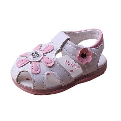 keephen Bébé LED Chaussures Fille Lumineux Chaussures Bébé Première Marche  Chaussures Casual Non-Slip Chaussures 7e46e854d9a6