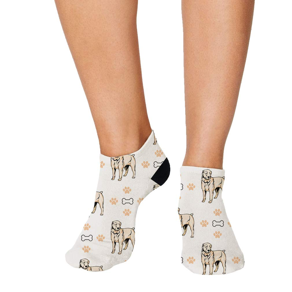 Central Asian Shepherd Dog Pattern #1 Men-Women Adult Ankle Socks