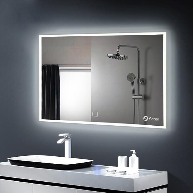Miroir LED Lampe de Miroir Éclairage Salle de Bain Miroir ...