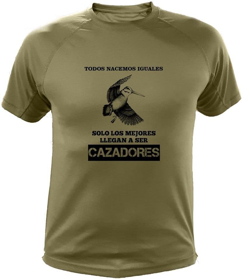 AtooDog Camisetas Personalizadas de Caza, Todos nacemos Iguales, Ideas Regalos, Becada