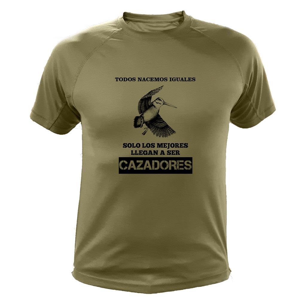 Camisetas Personalizadas de Caza, Todos nacemos Iguales, Ideas Regalos, Becada: Amazon.es: Deportes y aire libre