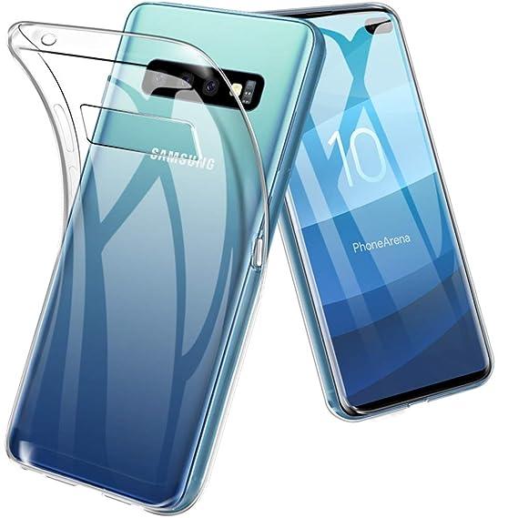Samsung Galaxy S10 Plus Case, TopACE TPU Rubber Gel Shock-Absorption Bumper  Anti-Scratch Silicone Cover Compatible for Samsung Galaxy S10 Plus (Clear)