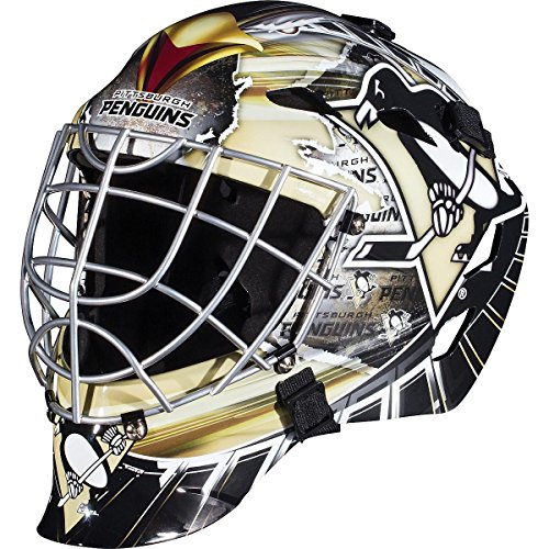 (Franklin Sports Pittsburgh Penguins Goalie Mask - Team Graphic Goalie Face Mask - GFM1500 Only for Ball & Street - NHL Official Licensed)