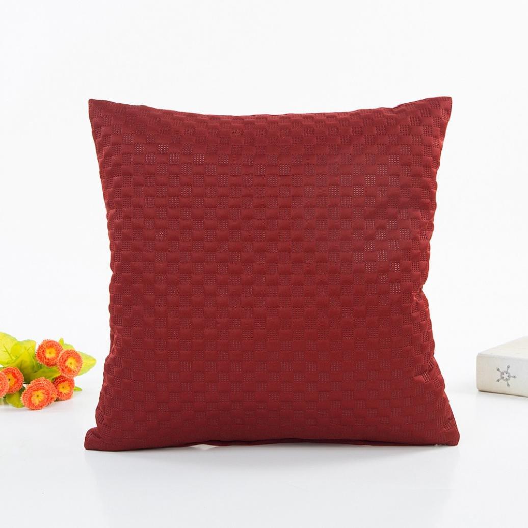 Amazon: Staron Simple Pillow Sofa Car Waist Throw Cushion Cover Pillows  Decorative Throw Pillows Set (Black): Home & Kitchen