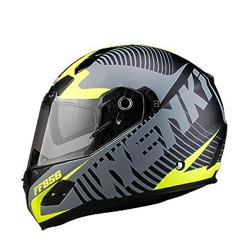 Roonsym Casco de motocicleta Certificación Dot Fiberglass Shell Street Racing Moto Moto cascos de equitación XL