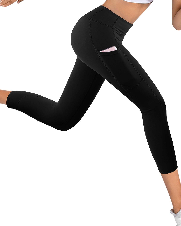 Polainas de Yoga Fitness GRAT.UNIC Mallas Deportivas de Mujer Mujer Pantalones el/ásticos de Yoga con Bolsillos Laterales
