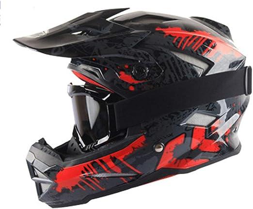 XRQ Casco de la Motocicleta Bicicleta de montaña Casco Integral ...