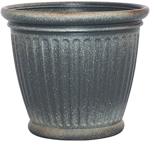 Suncast 1803gp36 Capital Planter, Granite, 18