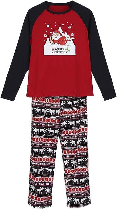 Conjunto de Pijama de Navidad con Texto en inglés Merry ...
