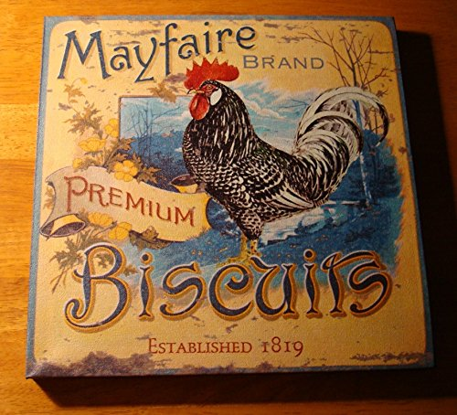 - Mayfaire Biscuits Rooster Advertising Speckled Chicken Kitchen Sign Home Decor
