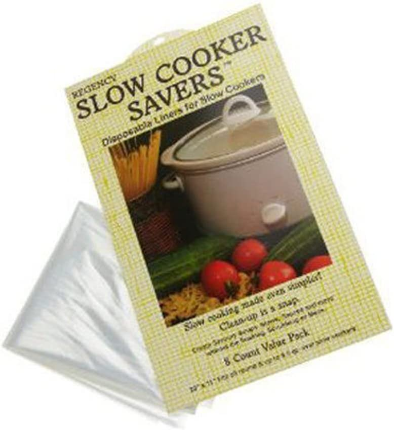 Lunarland 8 pk Slow Cooker Savers - Disposable Crock Pot Liner - Round / Up To 6.5 qt Oval
