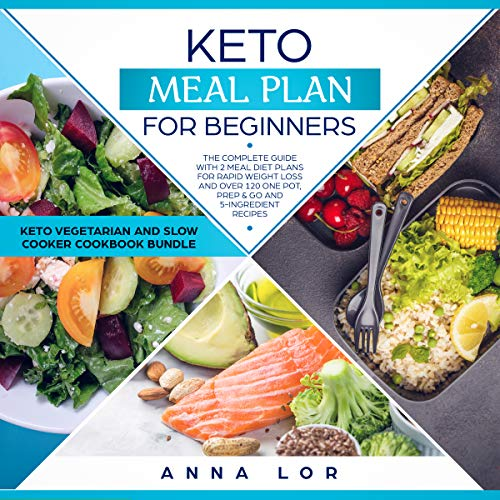 Keto Meal Plan for Beginners: The Complete Guide with 2 Meal Diet Plans for Rapid Weight Loss and over 120 One Pot, Prep & Go and 5-Ingredient Recipes by Anna Lor