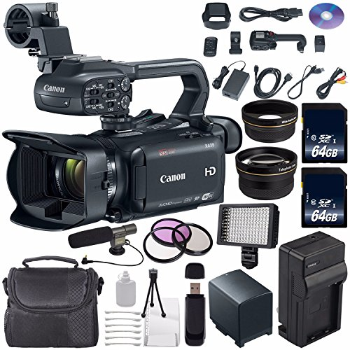 Canon XA35 Professional Camcorder #1003C002 (International Model) + 64GB SDXC Class 10 Memory Card + BP-820 Replacement Lithium Ion Battery + External Rapid Charger Bundle by 6Ave