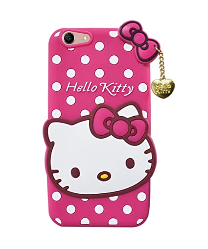 new arrival cba9a 48b7c COVERNEW Hello Kitty Rubber Back Cover for Vivo Y53 (1606) - Pink  HelloKittyBackkVivoY53Pink