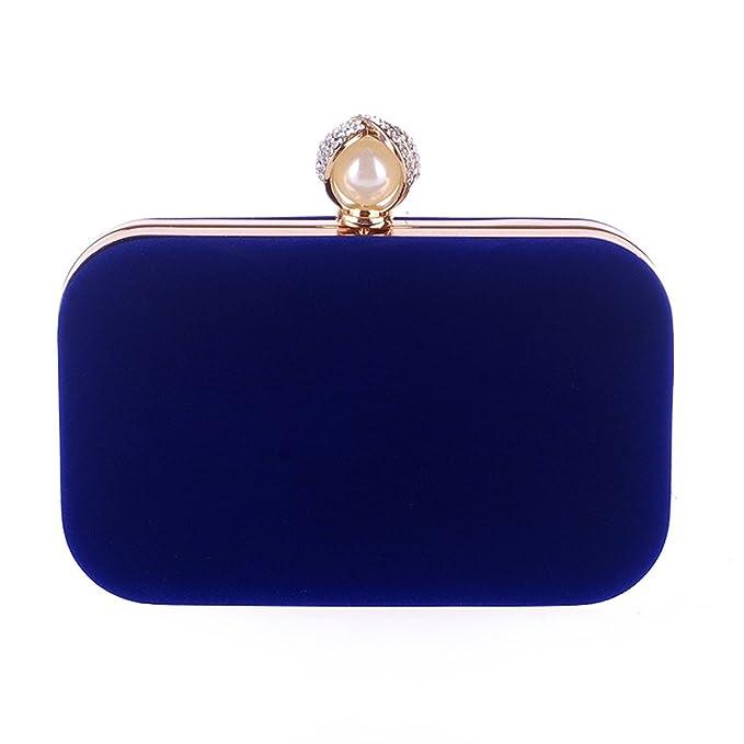 3cc5d2da5372 Amazon.com: Flada Evening Bag for Women Rectangular Flannel Simple ...