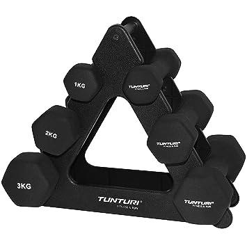 Tunturi - Set de mancuernas de neopreno con soporte negro negro Talla:n/a: Amazon.es: Deportes y aire libre