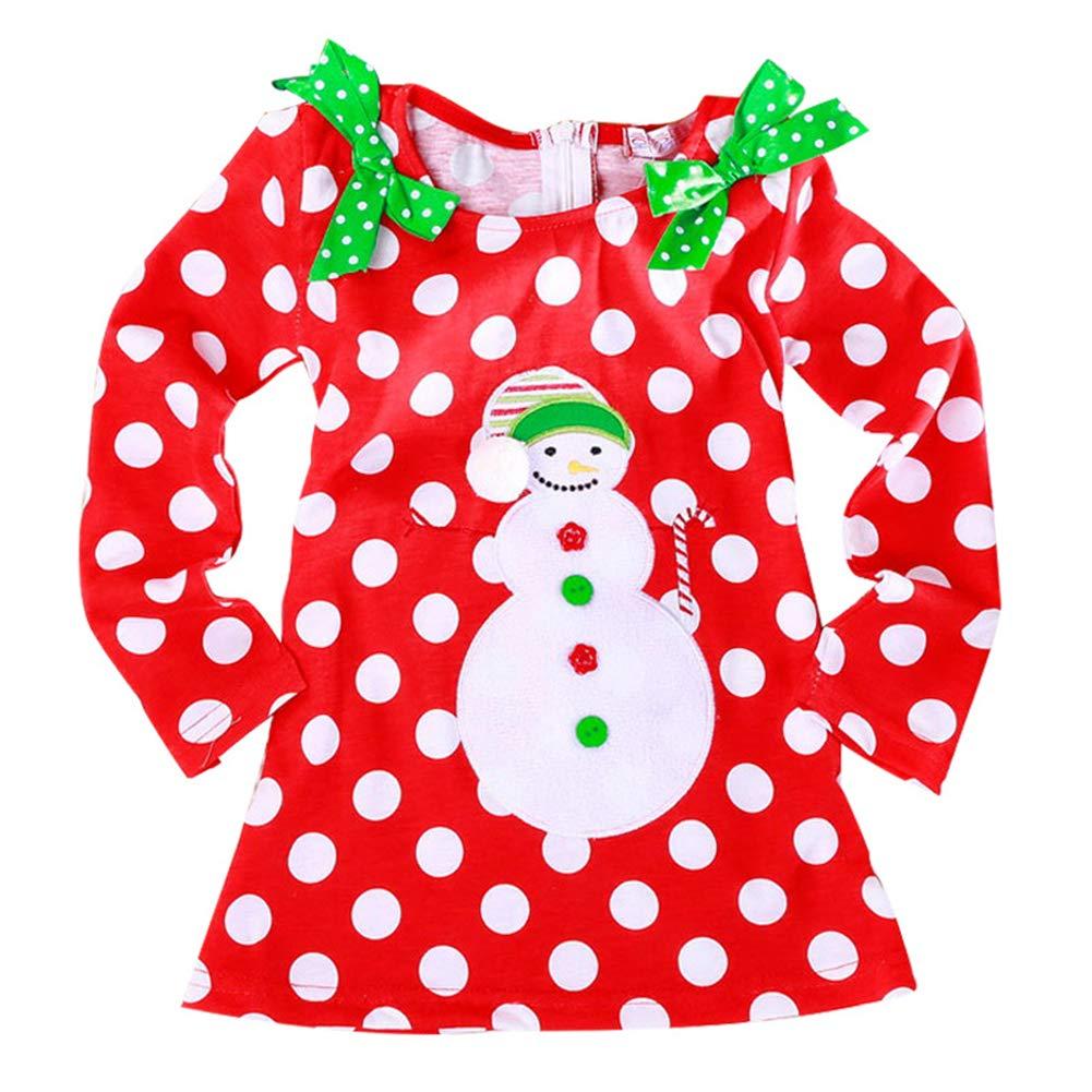Hippicity Girl Christmas Dress Santa Snowman Holiday Xmas Tulle Tutu Dots Dress