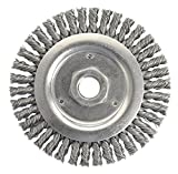 Weiler 79801 Dually Root Pass Weld Cleaning Brush, 4-1/2'', 0.20'' Steel Wire Fill, 5/8''-11 UNC Double-Hex Nut (Pack of 5)