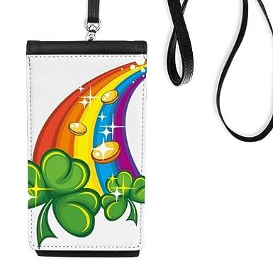 bc1a4baa Amazon.com: Four Leaf Clover Rainbow Ireland St.Patrick's Day Faux ...
