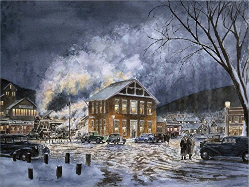 North Field, VT, c.1940 by Stanton Manolakas Laminated Art Print, 27 x 20 inches