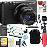 "Sony RX100 V 20.1 MP Cyber-shot Digital Camera w/ 3"" OLED DSC-RX100M5 + 64GB SDXC Memory Dual Battery Kit + Accessory Bundle"