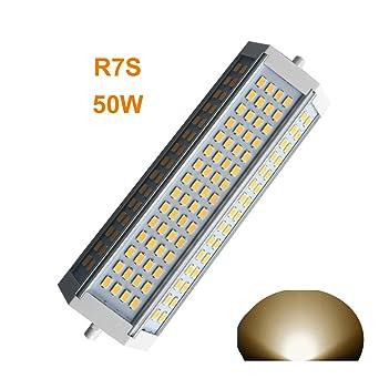Generic R7s LED dimmbar Leuchtmittel 50 W warmes Licht 3000 K Double ...