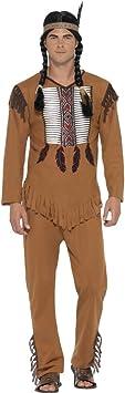 NET TOYS Disfraz Indio Hombre - S (ES 44/46) | Traje Americano ...