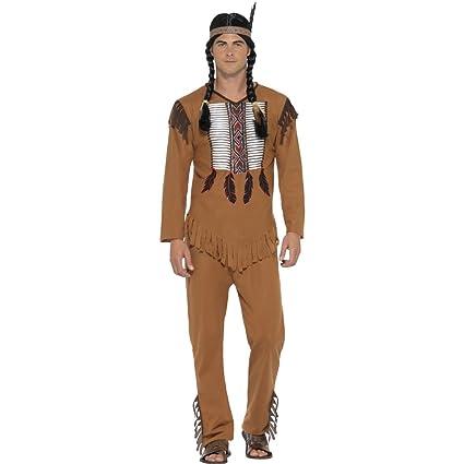 Traje Americano Nativo - S (ES 44/46) | Disfraz Indio Hombre ...
