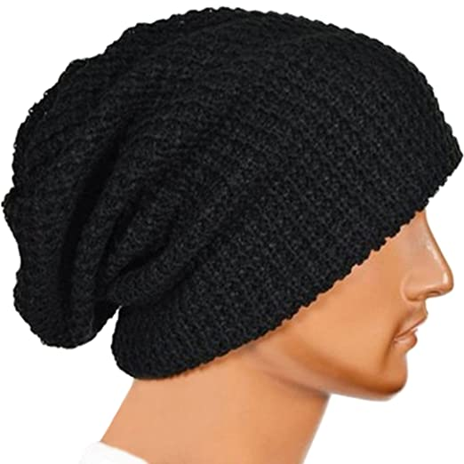 Amazon.com  Ofocam Unisex Slouchy Winter Hats Knitted Beanie Caps Men Women  Soft Warm Ski Hat  Clothing 9bc06653dc7