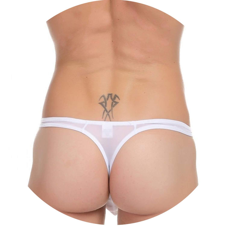 995bf2c0c5 Amazon.com: 2pcs/Lot Super Sexy Sheer Underwear Mens Swim Briefs & Beach  Shorts Underwear Gay Swimwear Men Thong Bikini Swimsuit No  Tether,Qrange,XL: ...