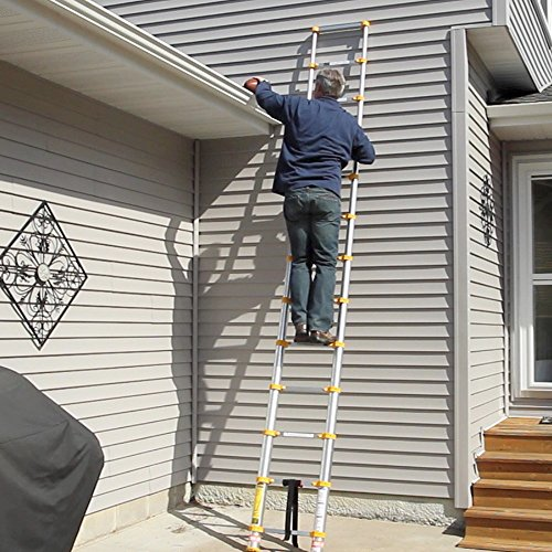 Collapsible Ladder 10 Ft : Xtend climb p aluminum telescoping ladder type i