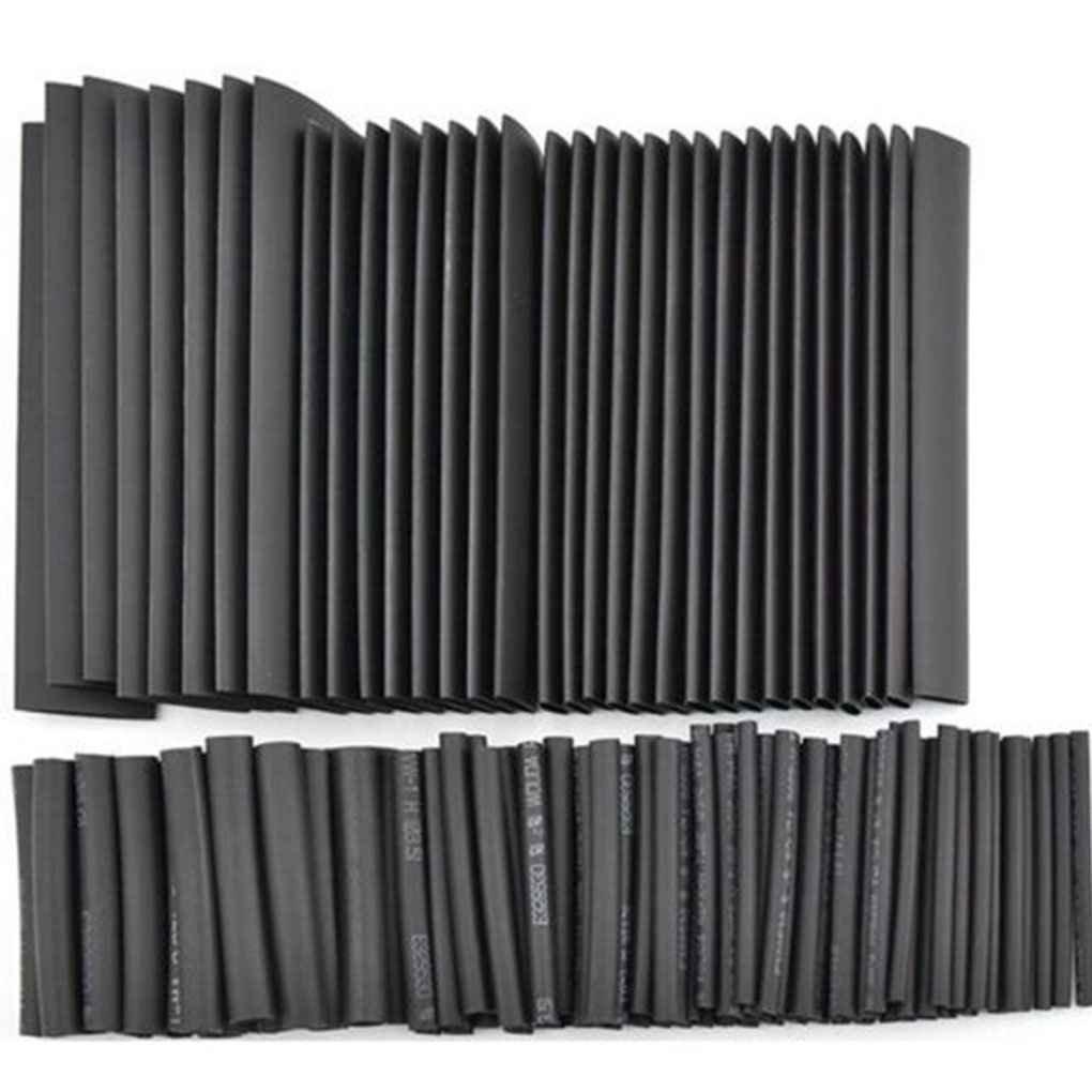Bobury 127PCS Negro Pegamento Resistente a la Intemperie Manguitos de Termocontracción Tubing Tubo del Kit del Sistema de Surtido: Amazon.es: Electrónica
