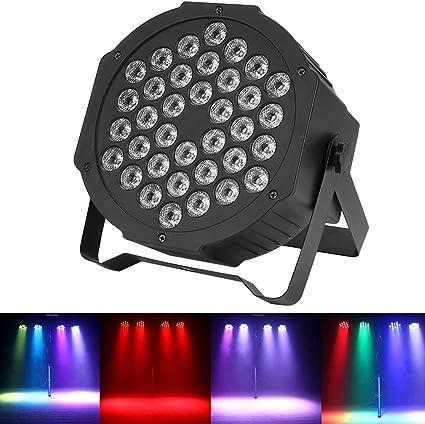 4Pcs 36W RGB DMX512 Proyector Luces de escenario 36 LED Disco ...