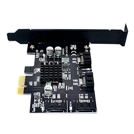fgghfgrtgtg 4 Puertos SATA 6G Tarjeta Vertical PCI 4 expreso ...