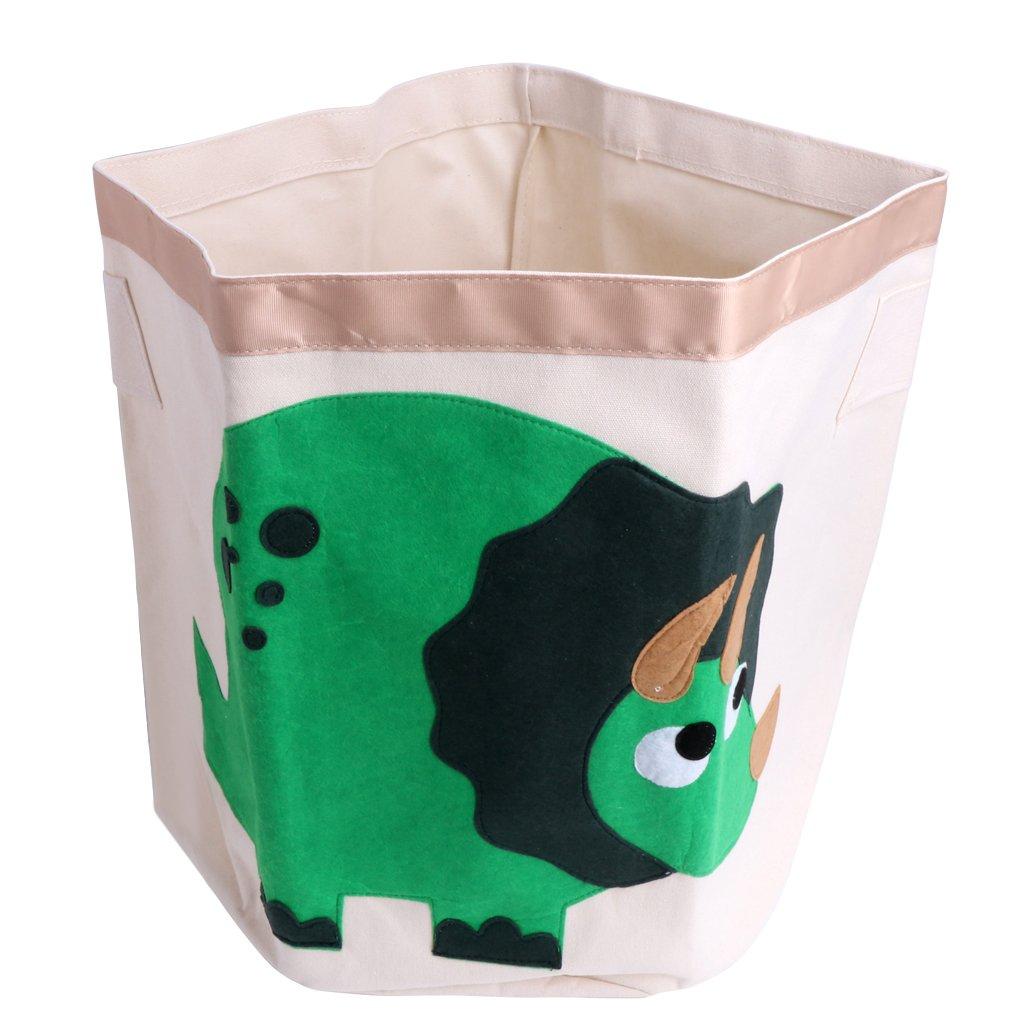Yumian Large Kids Cartoon Animal Sundries Clothes Basket Bags Storage Pouch Barrel Bag (Dinosaur)
