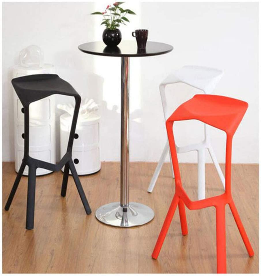 Tabouret Haut Chaise De Bar En Polypropylène Café Boutique De Thé Maison Créative 40 Cm * 44 Cm * 82 Cm (Couleur : B) A