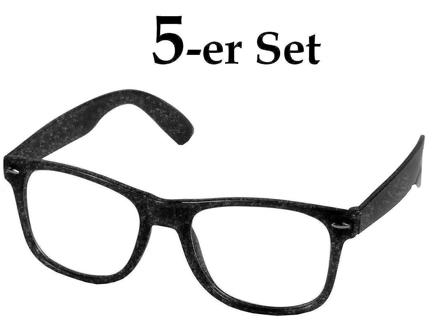 Oramics Brille ohne Stärke für Herren und Damen, Hornbrille in ...