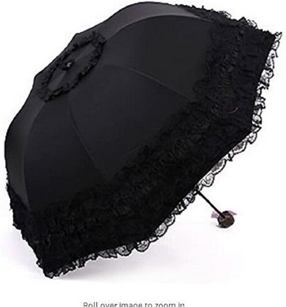 gesteh Travel Umbrella olding UV Resistance Princess Lace Parasol Umbrella Sun Umbrella for Women Girls