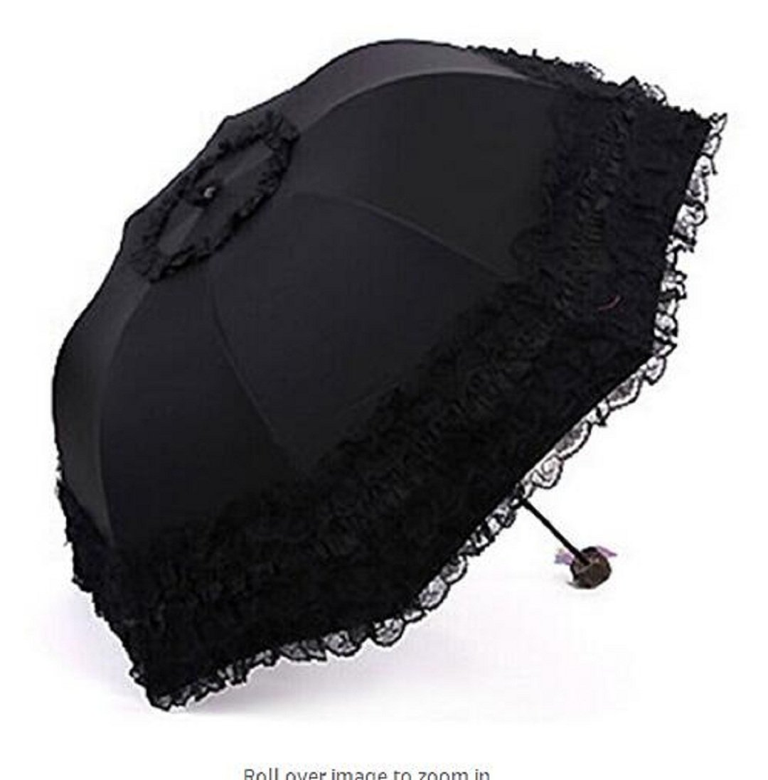 Wendin Travel Umbrella olding UV Resistance Princess Lace Parasol Umbrella Sun Umbrella For Women Girls