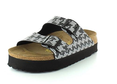 ebdfb65af091 Birkenstock Papillio Women s Arizona Platform Knotted Black Birko-Flor  sandals ...