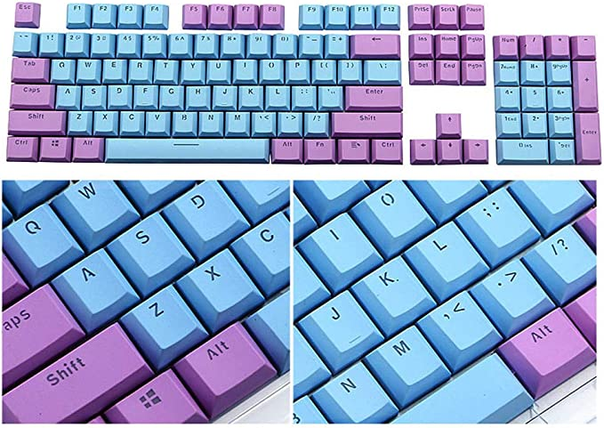 Keyboard keycaps 108 Keys Keycaps Thickening PBT Double Shot Backlight Blue Gradient Keycap for Switch Mechanical Keyboard Axis Body : 108 keycaps, Color : Green