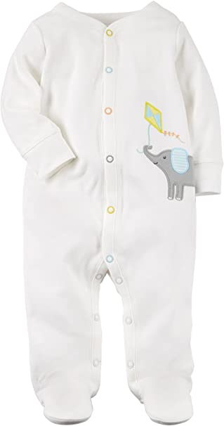 90a7d40c0a3c Amazon.com  Carter s Baby Elephant Kite Snap up Fleece Sleep and ...