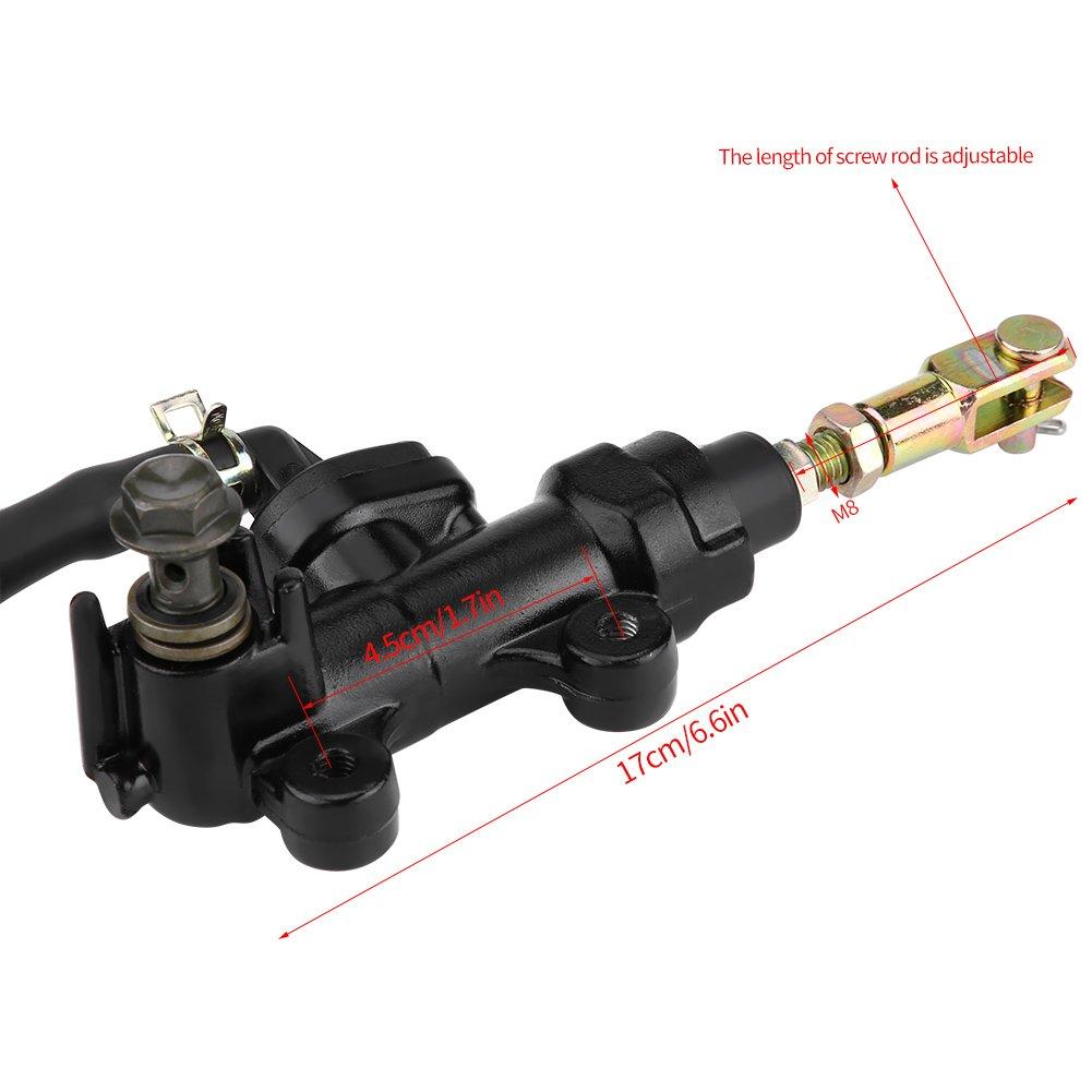 Qiilu Rear Foot Brake Hydraulic Master Cylinder Pump Reservoir