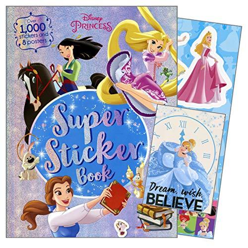 DISNEY Princess Girls Fun Set with Disney Princess Stickers, Activity Pages and Disney Princess Posters