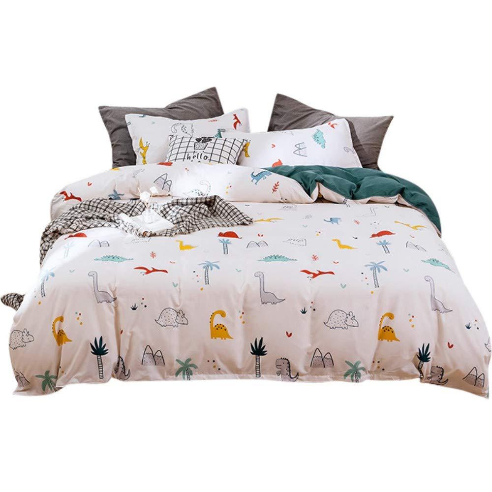 Slenyu Kids Duvet Cover Set Queen Orange Pattern Bedding Set Decorative Microfiber Cartoon Fruits Comforter Cover with 2 Pillow Shams Soft Lightweight 3 Pcs for Children Girls Boys Zipper
