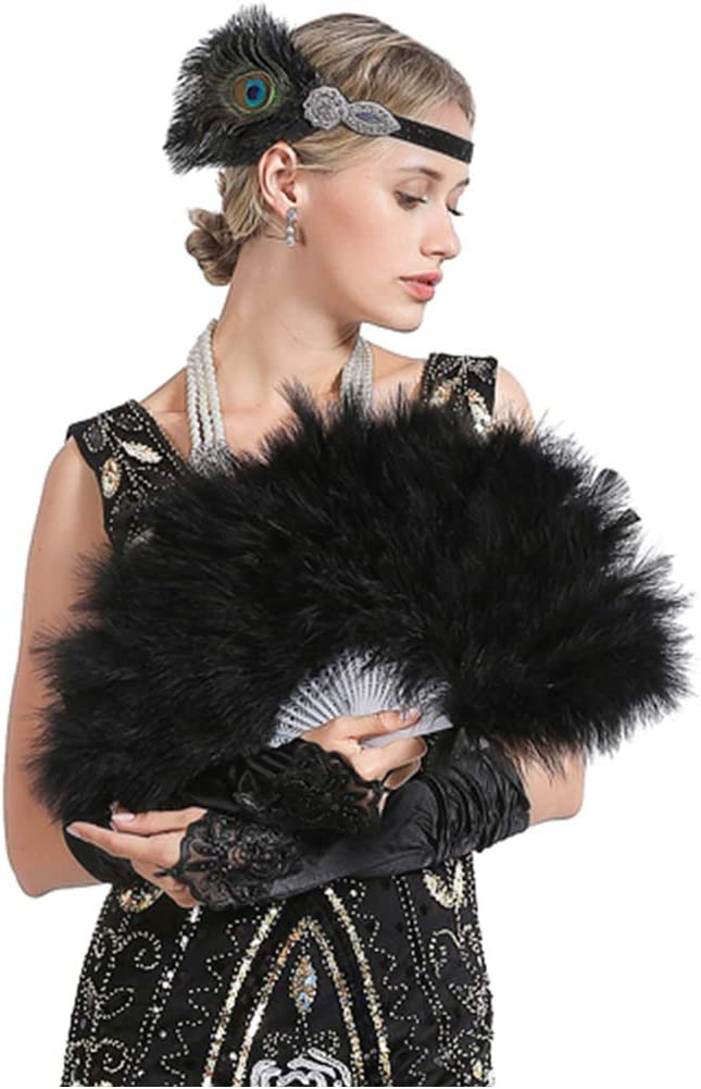 Portasigarette Collona JaosWish Set Accessori Anni 20 Donna Flapper per la Festa Set di 1920s Gatsby Stile Vintage Kit Charleston Accessori con Fascia Guanti